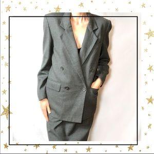 Christian Dior Separates wool Grey Skirt set (B10)